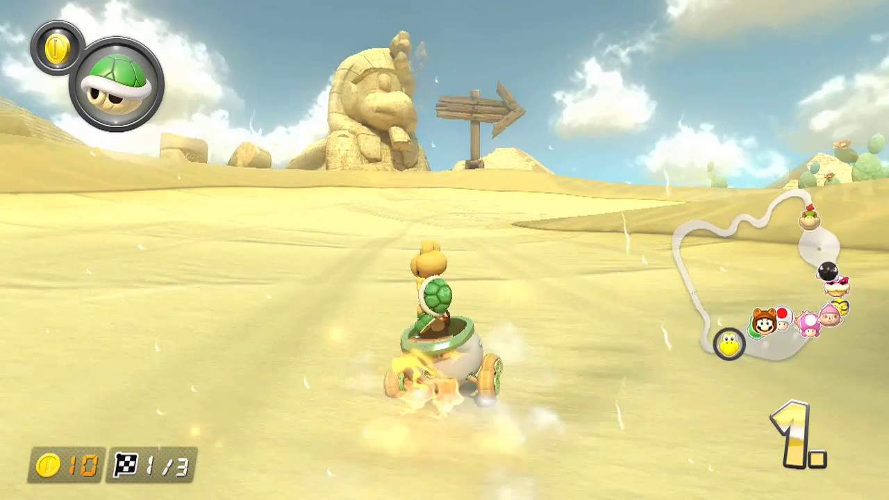 Mario Kart 8 Deluxe Gcn Staubtrockene Wüste Youtube