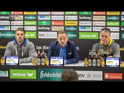 16. Spieltag | SGD - KSC | Pressekonferenz nach dem Spiel