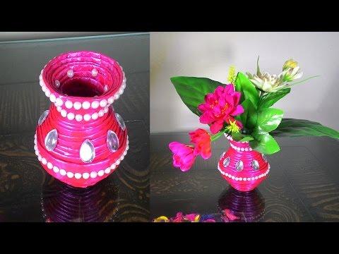 How to make newspaper flower vase | DIY newspaper crafts