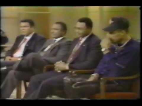 Ali, Frazier, Norton & Holmes on Donahue Show (Rare!!)