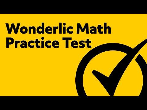 Wonderlic Test Questions - (Wonderlic Practice Test)