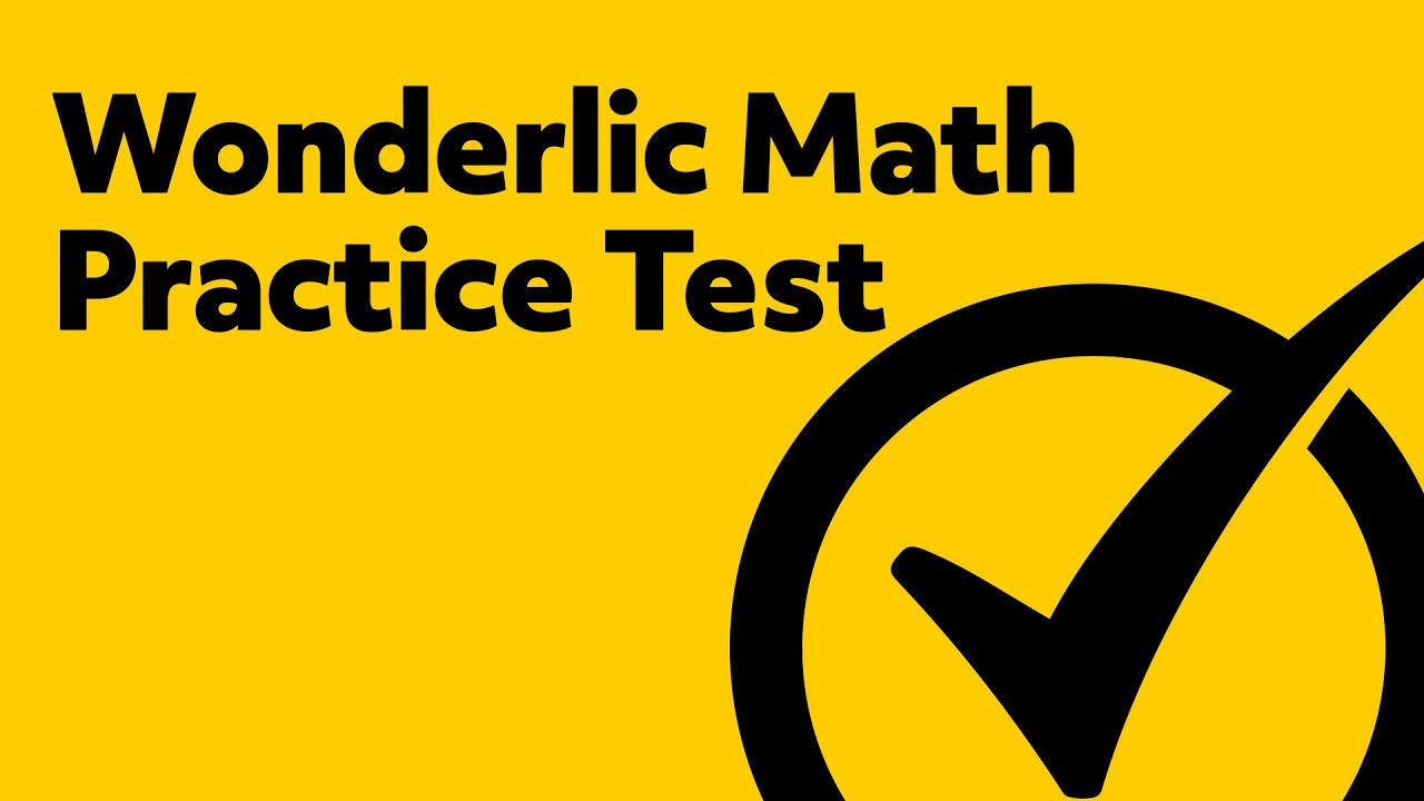 Wonderlic Test Questions - (Wonderlic Practice Test) - YouTube