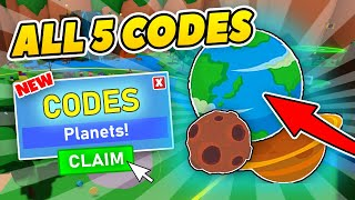 ALL 5 BLACK HOLE SIMULATOR CODES - PET UPDATE! - Roblox