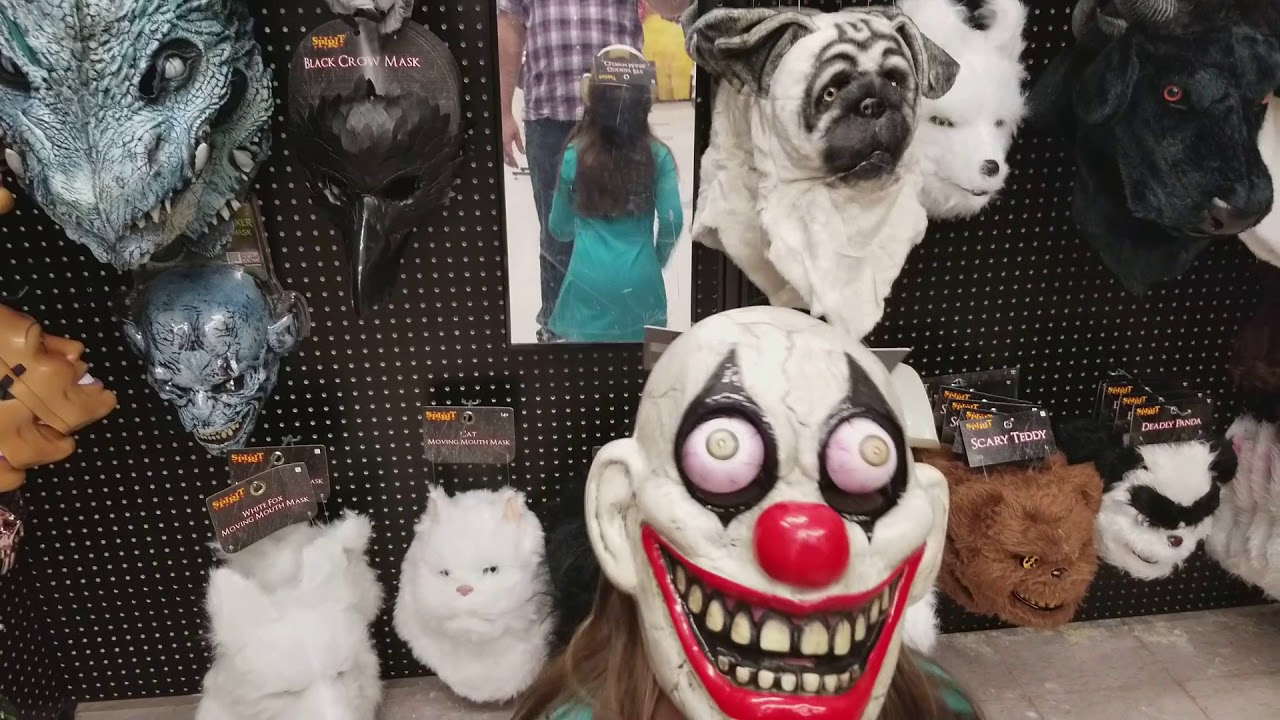 scary clown mask - youtube