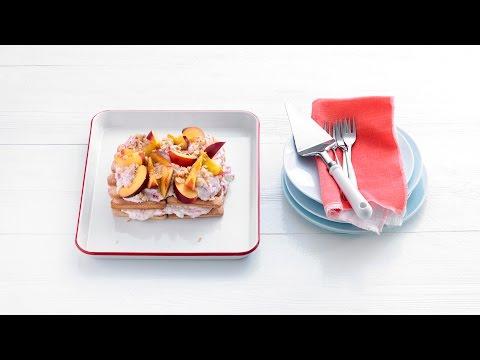 Tiramisu met nectarine, frambozen en hazelnoot – Allerhande