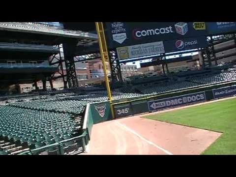 RAW Drone Video Inside Comerica Park, Detroit Michigan