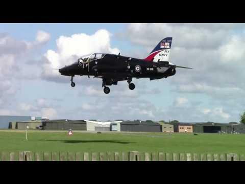 Hawk x2 land and Sea Vixen on jet pan at RNAS Yeovilton 19.5.17