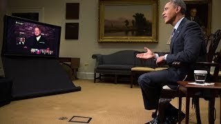 Repeat youtube video President Obama Gets Asked