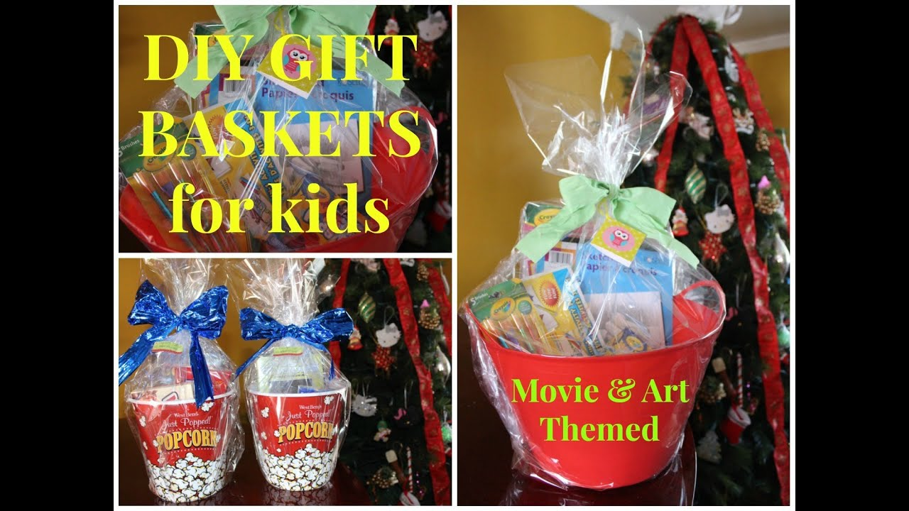 DIY Movie U0026 Art Themed Gift Baskets For Kids   Budget Friendly   YouTube