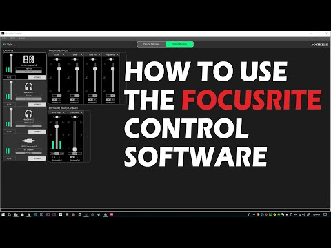 How To Use The Focusrite Control Software