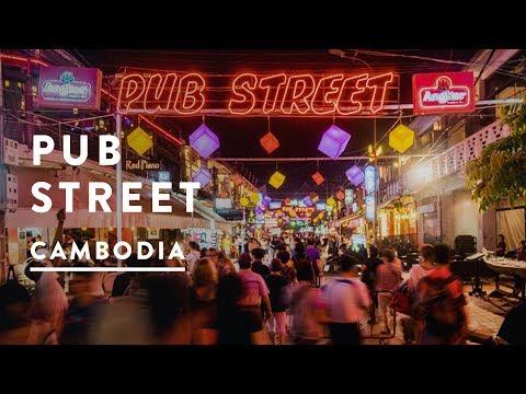 PUB STREET DRINKING | Siem Reap, Cambodia | Travel Vlog 015, 2017 | Depart Phnom Penh