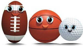 спортивный мяч | палец семьи песня | дети рифмовать | Sports Ball | Finger Family Rhyme | Baby Rhyme