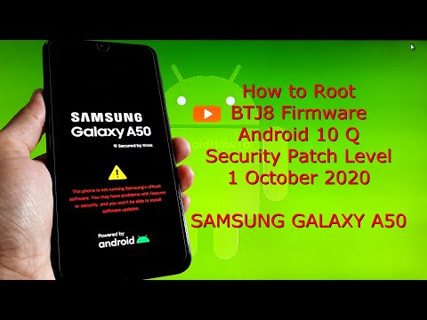 How to Root Samsung Galaxy A50 BTJ8 Firmware with Magisk v21.0 Android 10