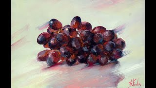 How to paint a Grapes in oil