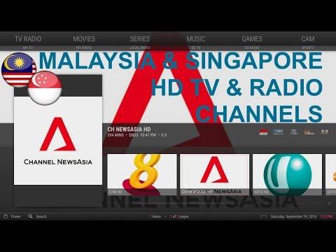 Malaysia & Singapore HD TV & Radio Channels