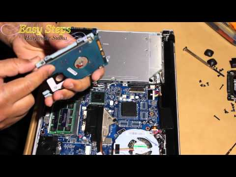 Disassemble Lenovo Ideapad - How to Upgrade Memory & SSD Hard Drive | Clean Fan Z400 Disassembly