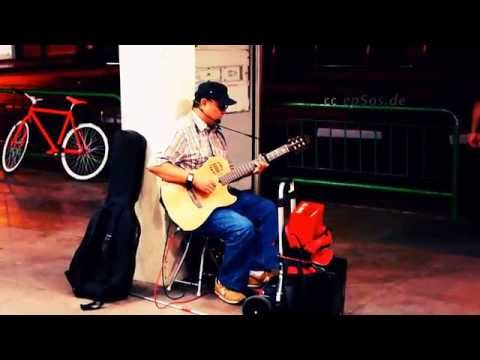 Blind Guitar Solo Player in Singapore of Asia