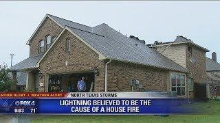 Lightning blamed for Little Elm house fire