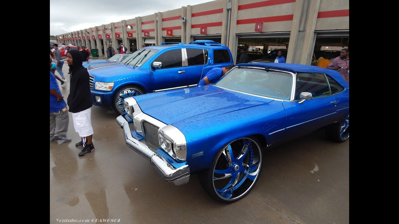 Kandy blue delta 88 vert on 30s and infiniti qx56 on 28s pulling kandy blue delta 88 vert on 30s and infiniti qx56 on 28s pulling up to stuntfest 2013 youtube vanachro Choice Image