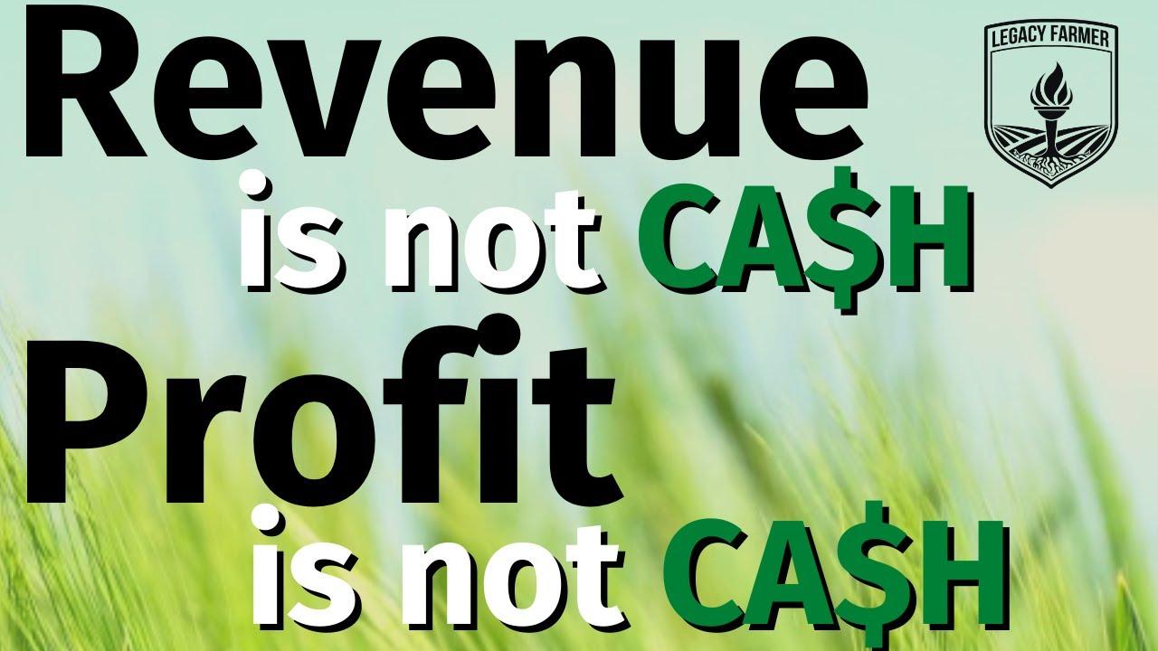 Revenue vs Profit vs Cash