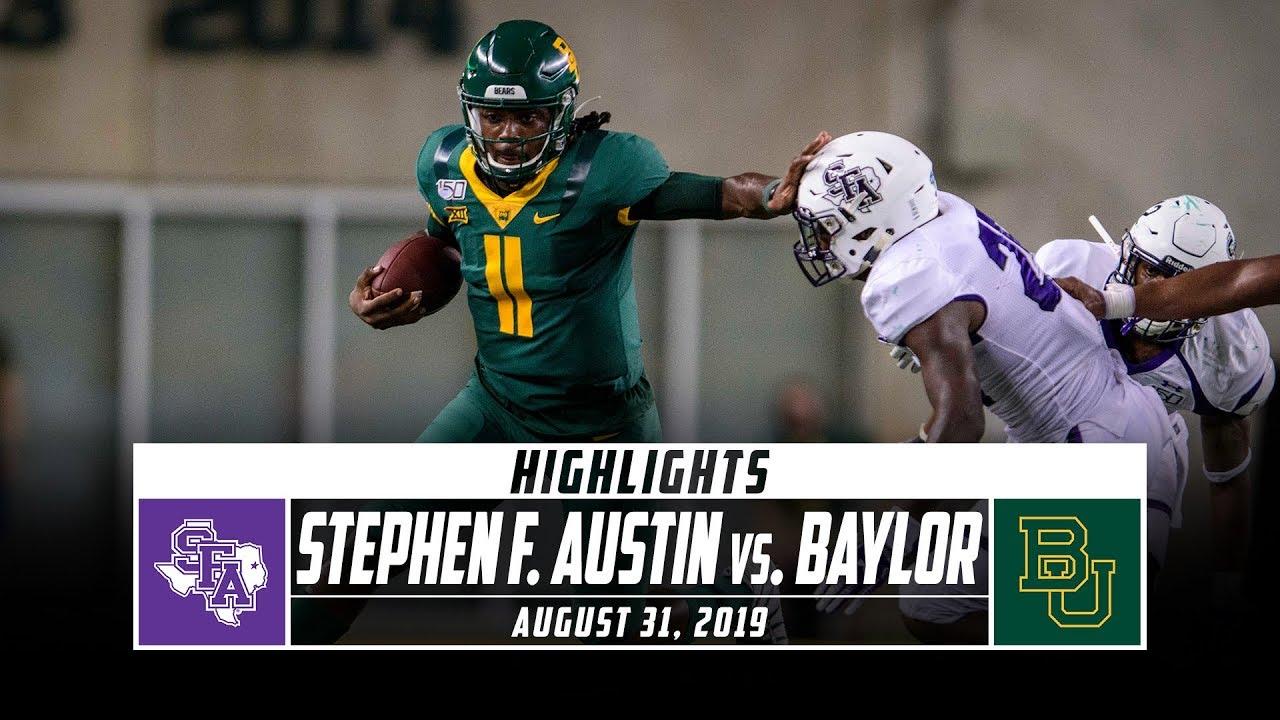 Stephen F Austin Vs Baylor Football Highlights 2019 Stadium
