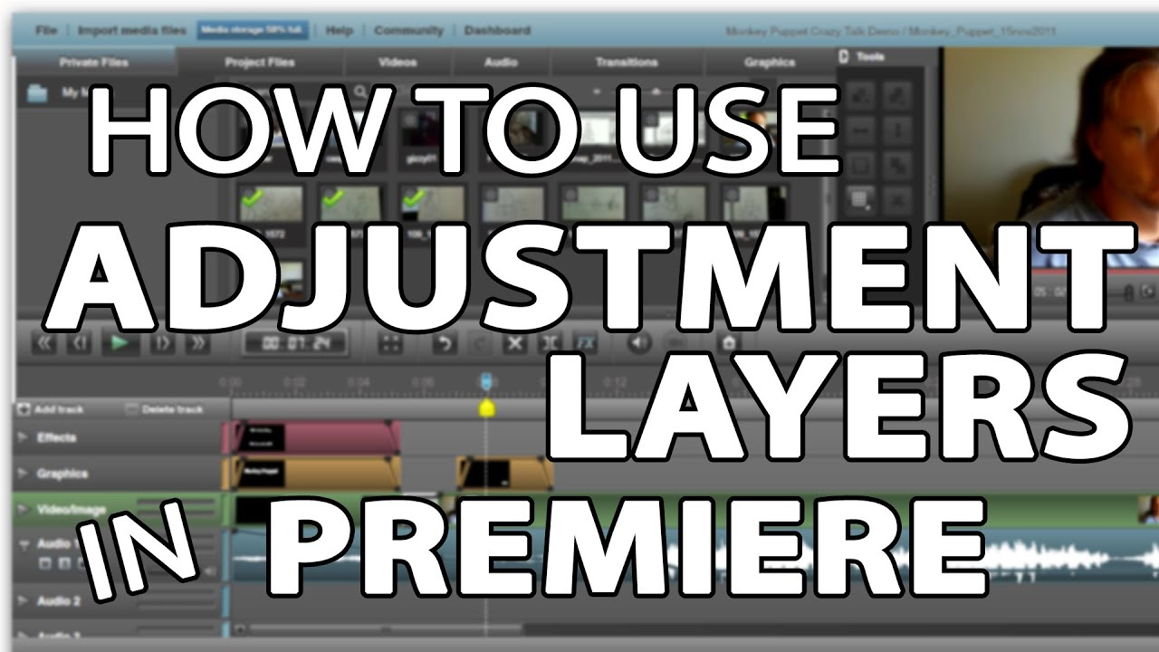 how to create an adjustment layer in premiere