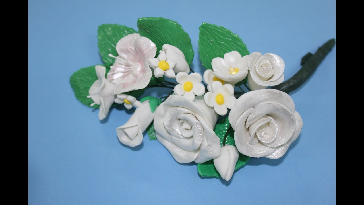 Cmo modelar rosas de fondant How to model a rose flower