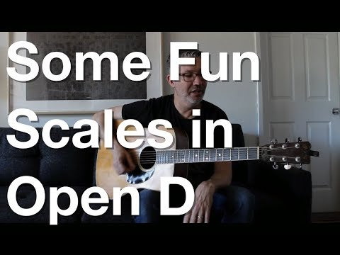 some fun scales in open d | tom strahle | pro guitar secrets