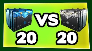 20 RARE SUPPLY DROPS vs 20 COMMON SUPPLY DROP, Which is better? Infinite Warfare SUPPLY DROP OPENING