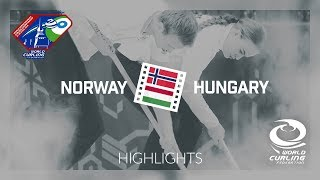 HIGHLIGHTS: Norway v Hungary - World Mixed Doubles Curling Championship 2018