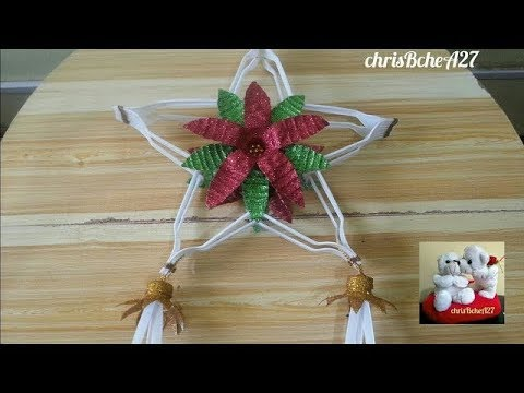 DIY# 72 Christmas Lantern / Parol Made Of Recycled Plastic Fork #2