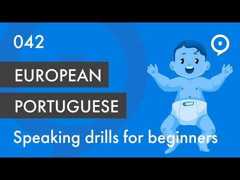 Learn European Portuguese (Portugal) - lesson 042 - basic drill for beginners (eu, tu)