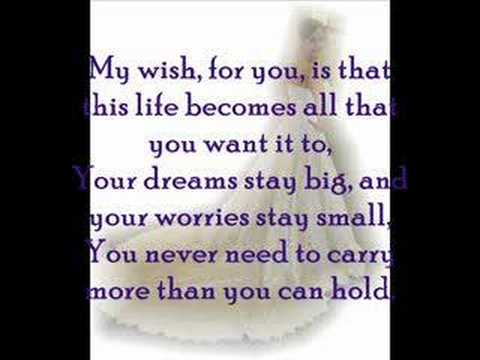 Rascal Flatts My Wish Wedding Style