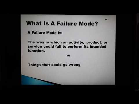 FMECA - Failure Mode, Effects And Criticality Analysis.