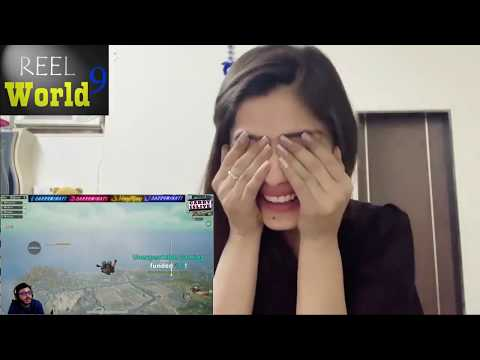 Carryminati pubg stream.. Cute girl😜😜😈 reaction on carry video