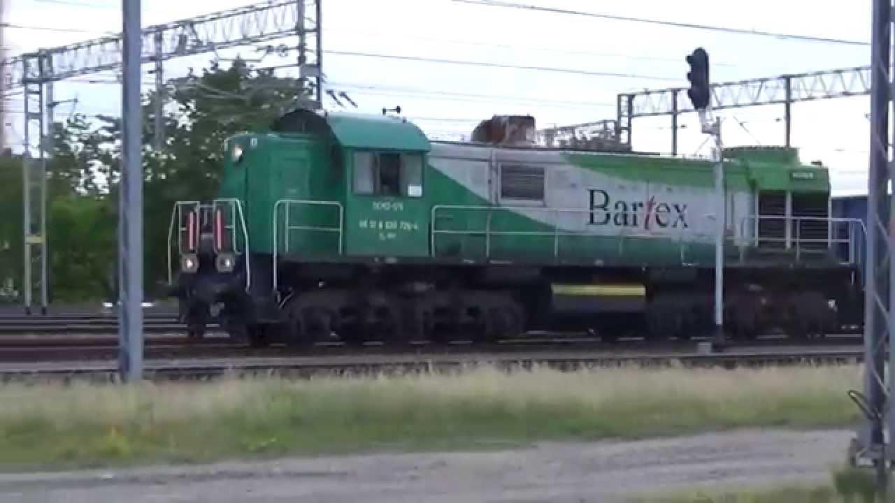 """TEM2 """"Tamara"""" w Tczewie / Russian diesel locomotive pulls ..."""