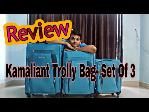 Unboxing Kamiliant By American Tourister Soft Case Suitcase Trolly