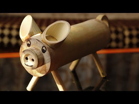 Piggy Bank from Bamboo, How to Make.    DIY  