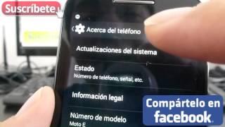Motorola Moto E Como Actualizar Android a la Ultima Version español