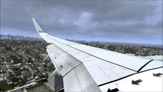 FSX AS REAL AS IT GETS (American Airlines Landing At LaGuardia Airport)