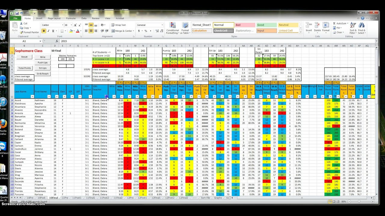 Fitness Spreadsheet Directions YouTube – Workout Worksheet