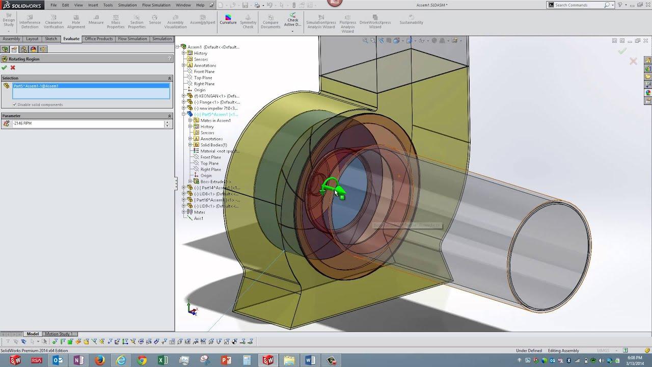 Suction Pump Simulation using Flow Simulation