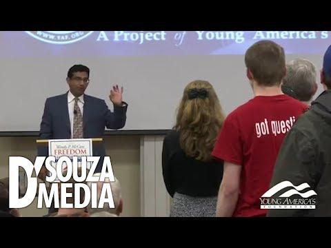 Professor INSTANTLY regrets battling D'Souza over racism