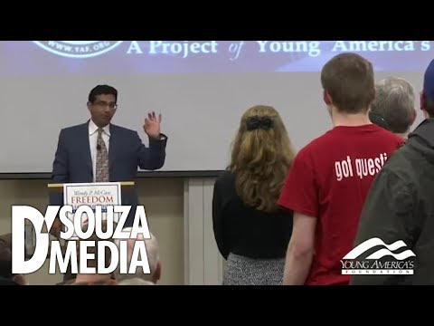 Professor INSTANTLY regrets battling D'Souza over racism