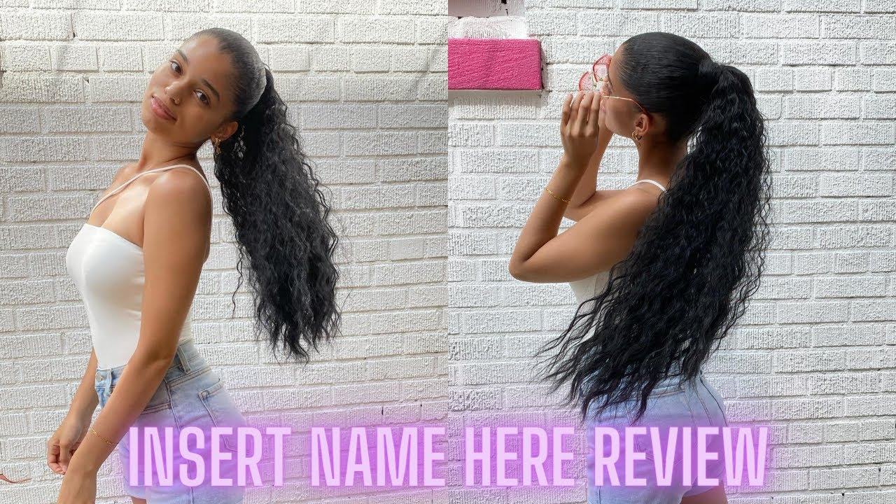 INH HAIR REVIEW + DEMO   How to SLEEK Ponytail w/ natural hair