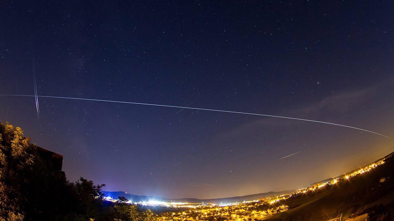 Satelliten Kette Am Himmel Heute Wann