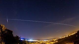 ISS am Himmel über Deutschland