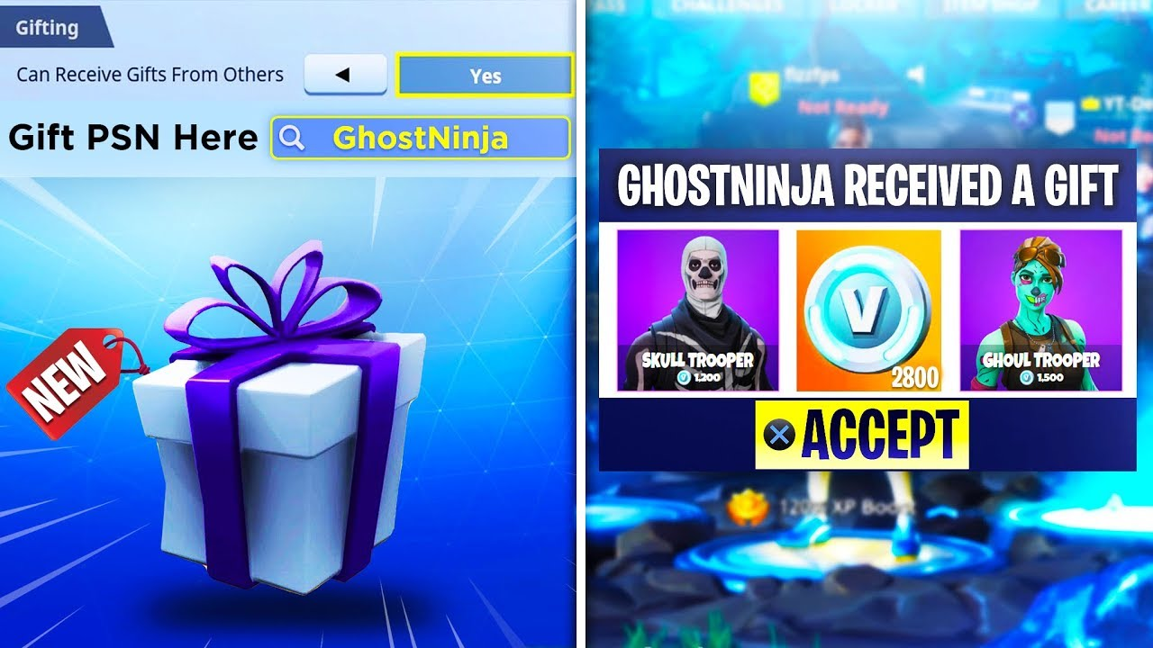 how to gift any items v bucks in fortnite battle royale season 5 - gifting on fortnite mobile