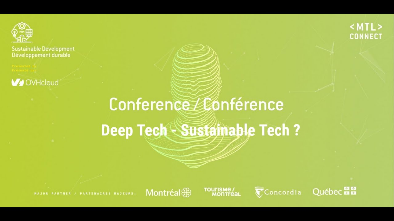 Can Deep Tech be sustainable ? Anne leads a Panel, gathering 3 experts from over the world