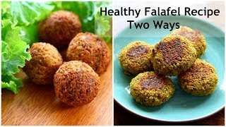 Falafel Recipe - How To Make Falafel With Chickpeas-Healthy Gluten Free Chana Tikki | Skinny Recipes